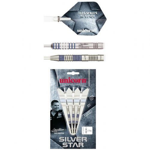 Unicorn Gary Anderson Silver Star 80% Tungsten Darts